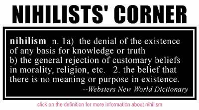 Nihilists' Corner